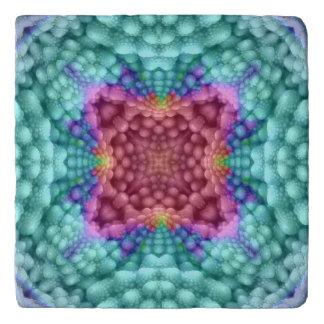 Groovy Blue Vintage Kaleidoscope  Trivet