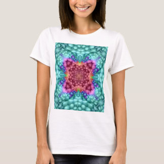Groovy Blue Vintage  Womens Front And Back T-Shirt