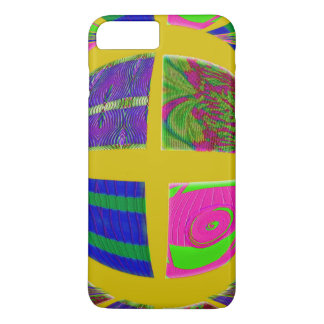 Groovy bright yellow design iPhone 7 plus case
