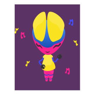 Groovy CMYK Robot Postcard