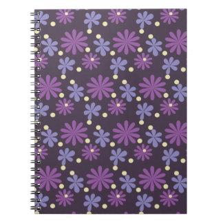 Groovy Floral dark Notebook