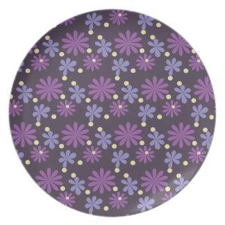 Groovy Floral dark Plate