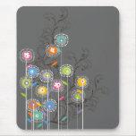 Groovy Flower Garden Mousepad