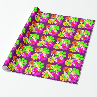 Groovy Flower Power Flowers Wrapping Paper