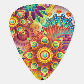 Groovy flowers guitar pick
