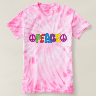 Groovy Fun Colourful 60s Style Peace Symbol T-shirt