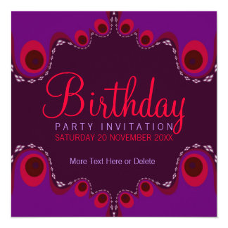 Groovy Goddess Birthday Party Invitation