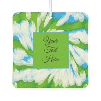 Groovy Green Blue Tie Dye Swirl Air Freshener