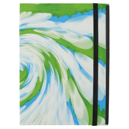 """Groovy Green Blue Tie Dye Swirl iPad Pro 12.9"""" Case"""