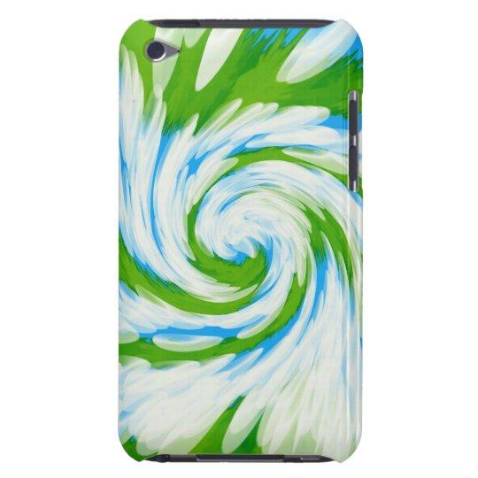 Groovy Green Blue Tie Dye Swirl iPod Touch Cover