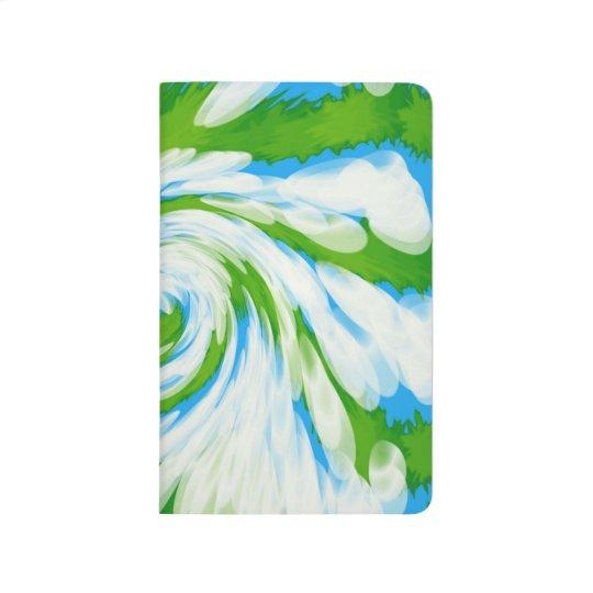 Groovy Green Blue Tie Dye Swirl Journal