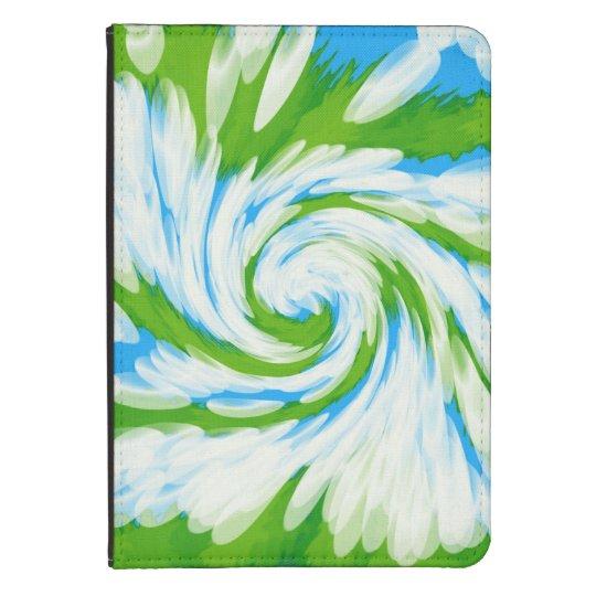 Groovy Green Blue Tie Dye Swirl Kindle Case