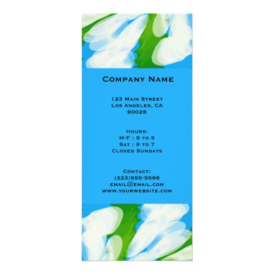 Groovy Green Blue Tie Dye Swirl Rack Card