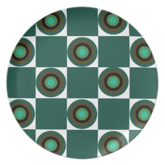 Groovy Green Orbs Party Plate