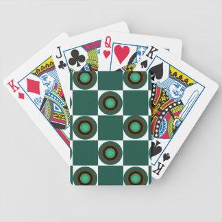 Groovy Green Orbs Poker Deck