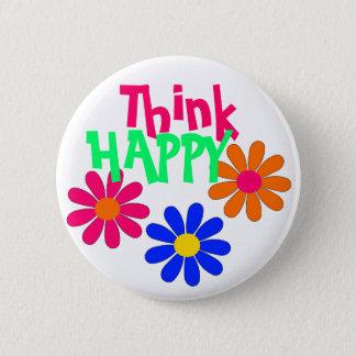 Groovy Happy Flowers 2 Inch Round Button