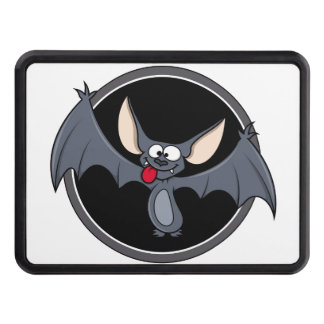 Groovy Happy Halloween Bat Trailer Hitch Cover