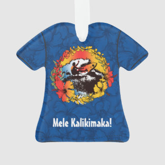 Groovy Hawaiian Surfer 1960s Retro Aloha Shirt Ornament
