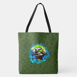 Groovy Hawaiian Surfer 1960s Retro Beach Bag