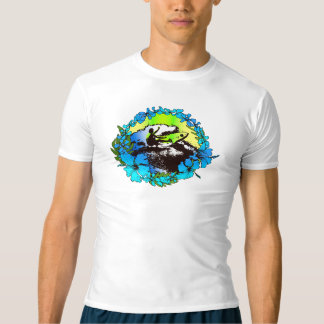 Groovy Hawaiian Surfer 1960's Retro Rash Guard T-shirt