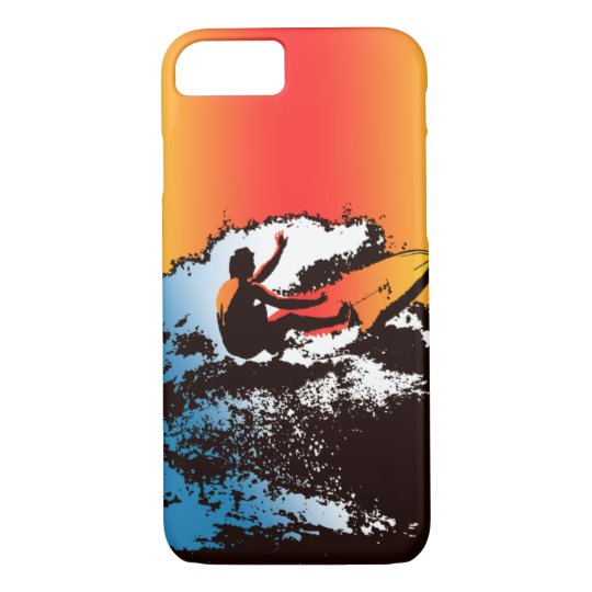 Groovy Hawaiian Surfer 1960's Retro - Red iPhone 8/7 Case
