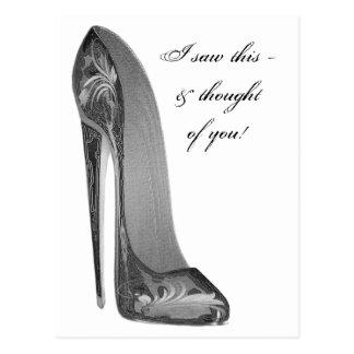 Groovy High Heel Stiletto Shoe Art Gifts Postcard