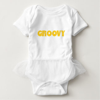 Groovy Hippie Peace Sign Love Sixties Seventies Baby Bodysuit