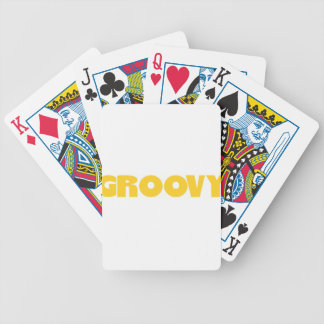 Groovy Hippie Peace Sign Love Sixties Seventies Bicycle Playing Cards