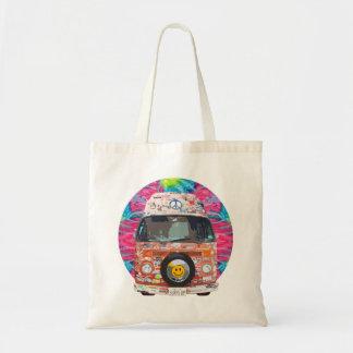 Groovy Hippie Van Tote Bag