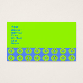 Groovy Lime Green and Turquoise Business Card