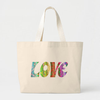 GROOVY LOVE LARGE TOTE BAG