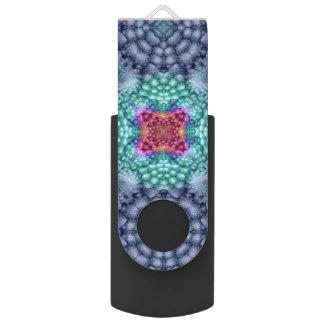 Groovy Man Kaleidoscope  USB   Flash Drive Swivel USB 2.0 Flash Drive