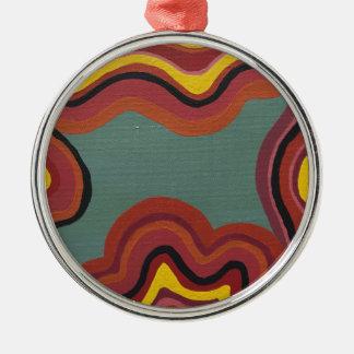 Groovy Metal Ornament
