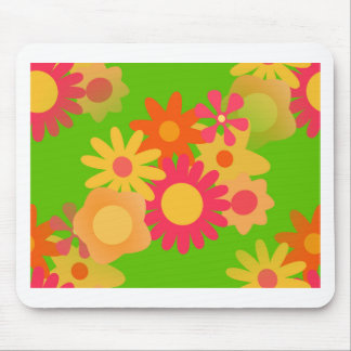 groovy mod floral mouse pad