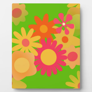 groovy mod floral plaque