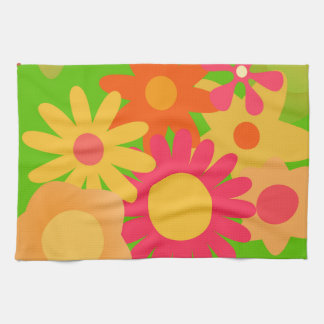 groovy mod floral towels