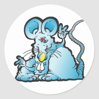 Groovy Mouse Round Sticker