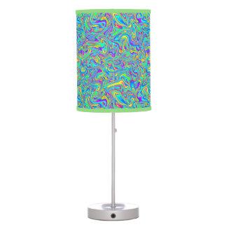 Groovy Neon Liquid Wet Paint Swirls Table Lamp