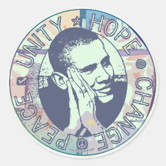 Groovy Obama 2008 Gear Classic Round Sticker
