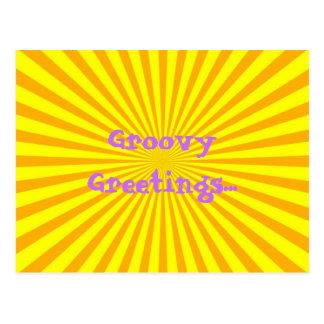 Groovy Orange Postcard