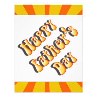 Groovy Orange Retro For Father s Day Flyer Design