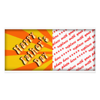 Groovy Orange Retro For Father s Day Photo Card