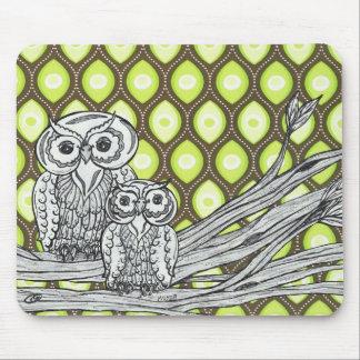 Groovy Owls Mousepad