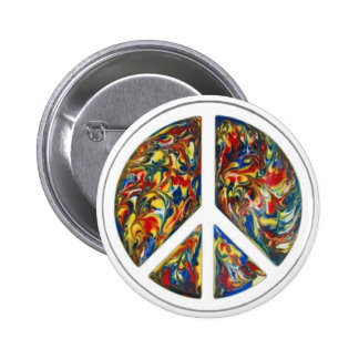 groovy peace sign 2 inch round button
