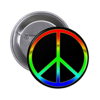 Groovy Peace Sign Button Pin