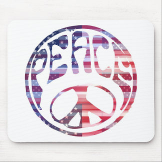 Groovy Peace Sign Mouse Pad