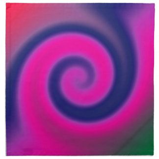 Groovy Pink Blue Swirl Abstract Napkin