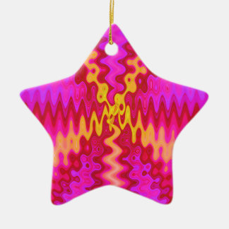 groovy pink ceramic ornament