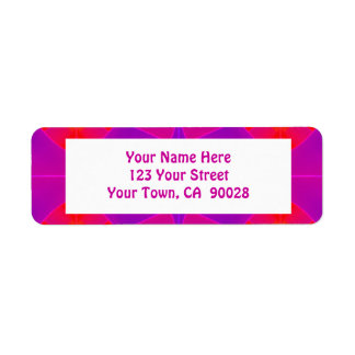 groovy pink red return address label