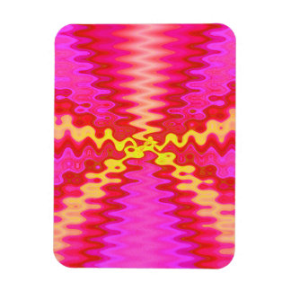 groovy pink yellow abstract magnet